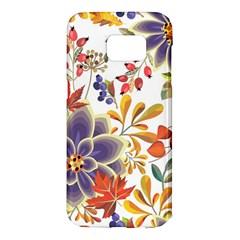 Autumn Flowers Pattern 5 Samsung Galaxy S7 Edge Hardshell Case by tarastyle