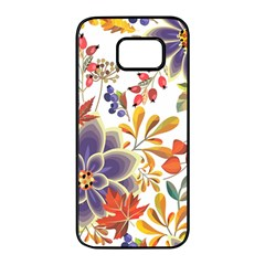 Autumn Flowers Pattern 5 Samsung Galaxy S7 Edge Black Seamless Case by tarastyle