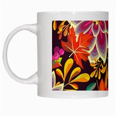Autumn Flowers Pattern 6 White Mugs by tarastyle