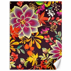 Autumn Flowers Pattern 6 Canvas 36  X 48   by tarastyle