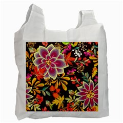 Autumn Flowers Pattern 6 Recycle Bag (one Side) by tarastyle