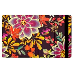 Autumn Flowers Pattern 6 Apple Ipad 3/4 Flip Case by tarastyle