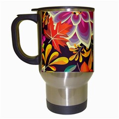 Autumn Flowers Pattern 6 Travel Mugs (white) by tarastyle