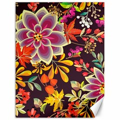 Autumn Flowers Pattern 6 Canvas 12  X 16   by tarastyle