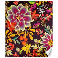Autumn Flowers Pattern 6 Canvas 20  X 24   by tarastyle