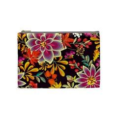 Autumn Flowers Pattern 6 Cosmetic Bag (medium)  by tarastyle
