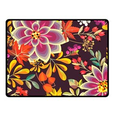 Autumn Flowers Pattern 6 Fleece Blanket (small) by tarastyle