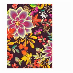 Autumn Flowers Pattern 6 Large Garden Flag (two Sides) by tarastyle