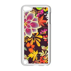 Autumn Flowers Pattern 6 Apple Ipod Touch 5 Case (white) by tarastyle