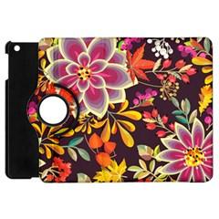 Autumn Flowers Pattern 6 Apple Ipad Mini Flip 360 Case by tarastyle