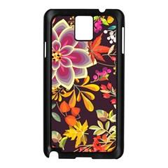 Autumn Flowers Pattern 6 Samsung Galaxy Note 3 N9005 Case (black) by tarastyle