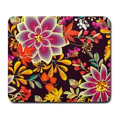 Autumn Flowers Pattern 6 Large Mousepads by tarastyle