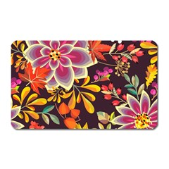 Autumn Flowers Pattern 6 Magnet (rectangular) by tarastyle