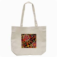 Autumn Flowers Pattern 6 Tote Bag (cream) by tarastyle