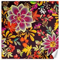 Autumn Flowers Pattern 6 Canvas 20  X 20   by tarastyle