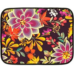 Autumn Flowers Pattern 6 Fleece Blanket (mini) by tarastyle