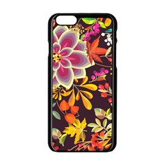 Autumn Flowers Pattern 6 Apple Iphone 6/6s Black Enamel Case by tarastyle