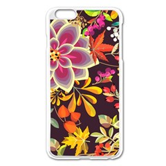 Autumn Flowers Pattern 6 Apple Iphone 6 Plus/6s Plus Enamel White Case by tarastyle