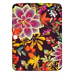 Autumn Flowers Pattern 6 Samsung Galaxy Tab 3 (10 1 ) P5200 Hardshell Case  by tarastyle