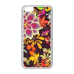 Autumn Flowers Pattern 6 Apple Iphone 5c Seamless Case (white) by tarastyle