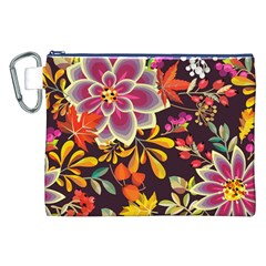 Autumn Flowers Pattern 6 Canvas Cosmetic Bag (xxl) by tarastyle