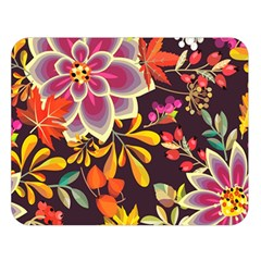 Autumn Flowers Pattern 6 Double Sided Flano Blanket (large)  by tarastyle