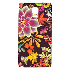 Autumn Flowers Pattern 6 Galaxy Note 4 Back Case by tarastyle
