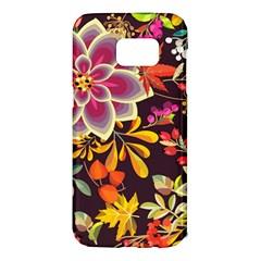 Autumn Flowers Pattern 6 Samsung Galaxy S7 Edge Hardshell Case by tarastyle