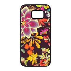 Autumn Flowers Pattern 6 Samsung Galaxy S7 Edge Black Seamless Case by tarastyle