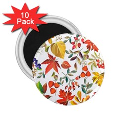 Autumn Flowers Pattern 7 2 25  Magnets (10 Pack)  by tarastyle