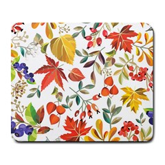 Autumn Flowers Pattern 7 Large Mousepads by tarastyle