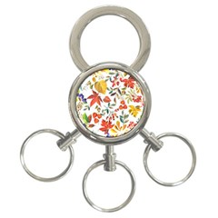 Autumn Flowers Pattern 7 3 Ring Key Chains by tarastyle
