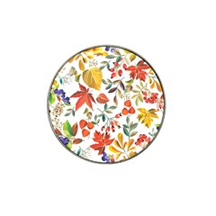 Autumn Flowers Pattern 7 Hat Clip Ball Marker (4 Pack) by tarastyle