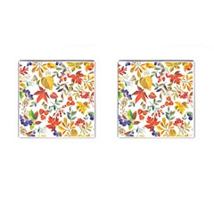 Autumn Flowers Pattern 7 Cufflinks (square) by tarastyle