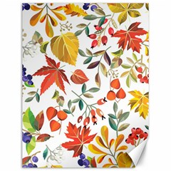 Autumn Flowers Pattern 7 Canvas 12  X 16   by tarastyle