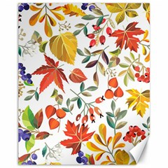Autumn Flowers Pattern 7 Canvas 11  X 14   by tarastyle