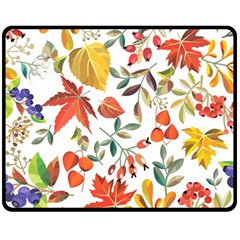 Autumn Flowers Pattern 7 Fleece Blanket (medium)  by tarastyle