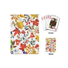 Autumn Flowers Pattern 7 Playing Cards (mini)  by tarastyle