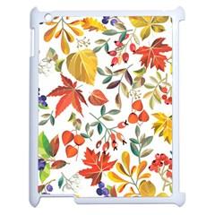 Autumn Flowers Pattern 7 Apple Ipad 2 Case (white) by tarastyle