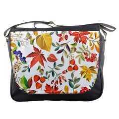 Autumn Flowers Pattern 7 Messenger Bags by tarastyle