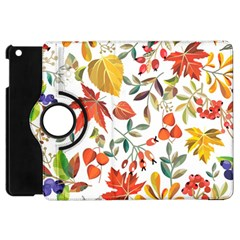 Autumn Flowers Pattern 7 Apple Ipad Mini Flip 360 Case by tarastyle