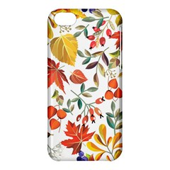 Autumn Flowers Pattern 7 Apple Iphone 5c Hardshell Case by tarastyle