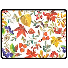 Autumn Flowers Pattern 7 Double Sided Fleece Blanket (large)  by tarastyle