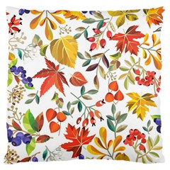 Autumn Flowers Pattern 7 Large Flano Cushion Case (two Sides) by tarastyle