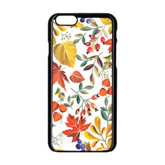 Autumn Flowers Pattern 7 Apple Iphone 6/6s Black Enamel Case by tarastyle
