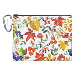 Autumn Flowers Pattern 7 Canvas Cosmetic Bag (xxl) by tarastyle
