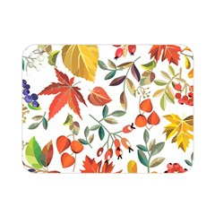Autumn Flowers Pattern 7 Double Sided Flano Blanket (mini)  by tarastyle