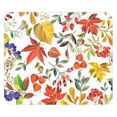 Autumn Flowers Pattern 7 Double Sided Flano Blanket (small)  by tarastyle