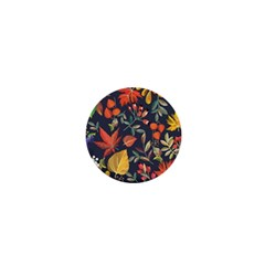 Autumn Flowers Pattern 8 1  Mini Buttons by tarastyle