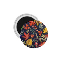 Autumn Flowers Pattern 8 1 75  Magnets by tarastyle